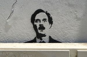 John Cleese - Fawlty Towers Graffito - Alfama District - Lisbon, Portugal